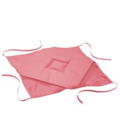 Essentiel Plain Set of 4 Seat Pads with 4 Flaps - Coral Pink