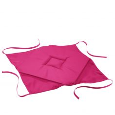 Essentiel Plain Set of 4 Seat Pads with 4 Flaps - Fuchsia Pink