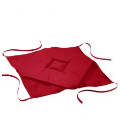 Essentiel Plain Set of 4 Seat Pads with 4 Flaps - Red
