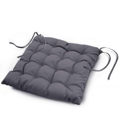 Essentiel Plain Quilted Set of 4 Seat Pads - Concrete Grey