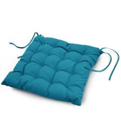 Essentiel Plain Quilted Set of 4 Seat Pads - Blue