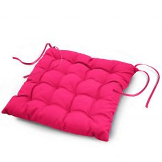 Essentiel Plain Quilted Set of 4 Seat Pads - Fuchsia Pink