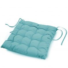 Essentiel Plain Quilted Set of 4 Seat Pads - Mint Blue