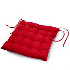 Essentiel Plain Quilted Set of 4 Seat Pads - Red