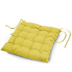 Essentiel Plain Quilted Set of 4 Seat Pads - Lime Green