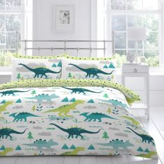 Jurassic Dino Kids Duvet Cover Set - Multi