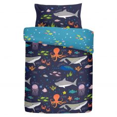 Sealife Underwater Animals Kids Fully Lined Tape Top Curtains - Multi