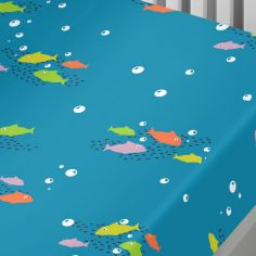 Sealife Underwater Animals Kids Fitted Sheet - Multi