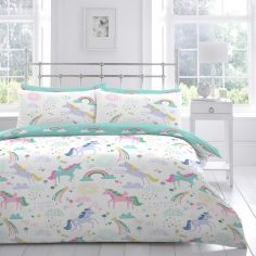 Rainbow Unicorn Kids Duvet Cover Set - Multi