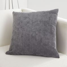 Kilbride Cord Chenille Cushion Cover - Charcoal Grey