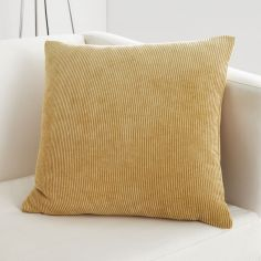Kilbride Cord Chenille Cushion Cover - Ochre Yellow