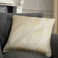 Houston Geometric Jacquard Cushion Cover - Natural