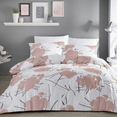 Starline Floral Duvet Cover Set - Blush Pink