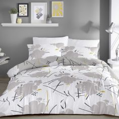 Starline Floral Duvet Cover Set - Grey
