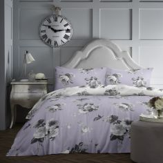 Charlotte Floral Duvet Cover Set - Lilac Purple