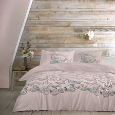 Mariposa Butterfly Duvet Cover Set - Blush Pink