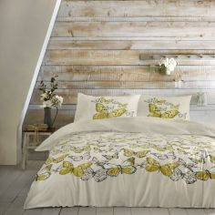 Mariposa Butterfly Duvet Cover Set - Ochre Yellow