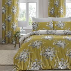 Mirabella Floral Duvet Cover Set - Ochre Yellow