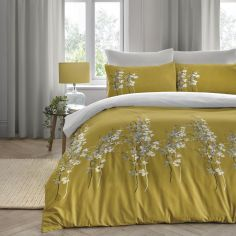 Oriental Flower Duvet Cover Set - Ochre Yellow