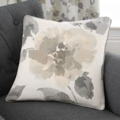 Adriana Floral 100% Cotton Cushion Cover - Natural