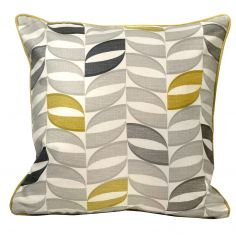 Copeland Leaf 100% Cotton Cushion Cover - Ochre Yellow