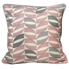 Copeland Leaf 100% Cotton Cushion Cover - Pink