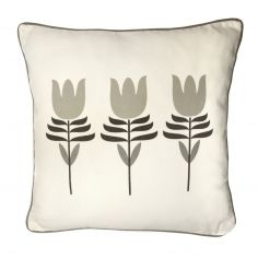 Haldon Floral Tulip Cushion Cover - Natural