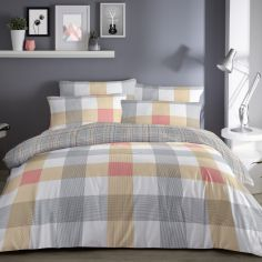Barcelona Check Duvet Cover Set - Multi