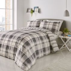 Balmoral Check Duvet Cover Set - Grey