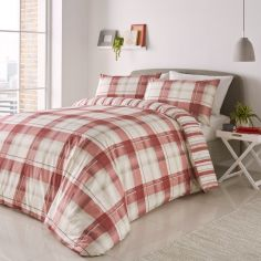 Balmoral Check Duvet Cover Set - Red