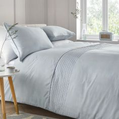 Pom Pom Duvet Cover Set - Duck Egg Blue