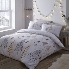 Christmas Trees Reversible Duvet Cover Set -  Multi