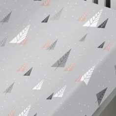 Fluffy Penguins Christmas 100% Brushed Cotton Fitted Sheet - Grey