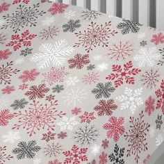 Garland Reindeer Snowflake Christmas 100% Brushed Cotton Fitted Sheet - Multi