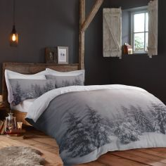 Starry Night Winter Duvet Cover Set - Grey
