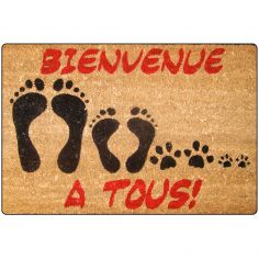 Bienvenue Printed Rectangular Door Mat