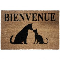 Cat and Dog Rectangulat Printed Door Mat