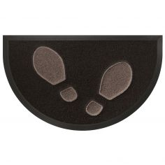 Empreintes Half Moon Door Mat - Black