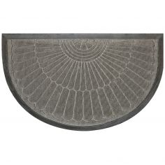 Coquille Half Moon Door Mat - Grey
