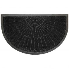 Coquille Half Moon Door Mat - Black
