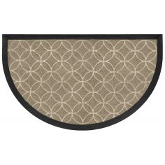 Emilio Half Moon Door Mat - Natural