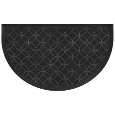 Emilio Half Moon Door Mat - Black