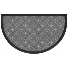 Galets Half Moon Door Mat - Grey