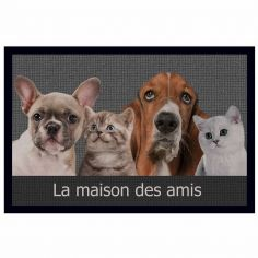 Cabotins Cats and Dogs Rectangular Door Mat