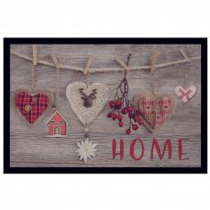 Home Wood Rectangular Door Mat