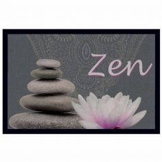 Zen Lotus Rectangular Door Mat