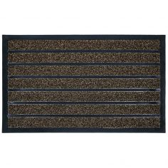 Marco Rectangular PVC Door Mat - Chocolate Brown
