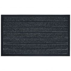 Marco Rectangular PVC Door Mat - Grey