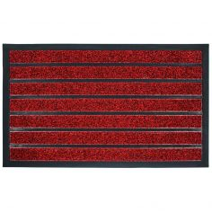 Marco Rectangular PVC Door Mat - Red