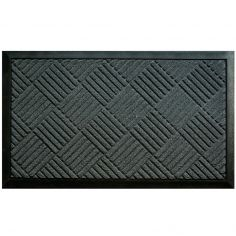 Carreaux Rectangular PVC Door Mat - Grey